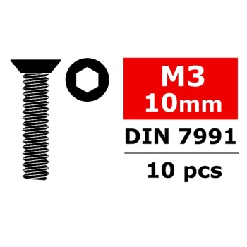 CORALLY C-30052 Vis M3 X 10MM (x10)